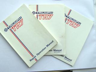 Triumph TR7 Manual and Supplements